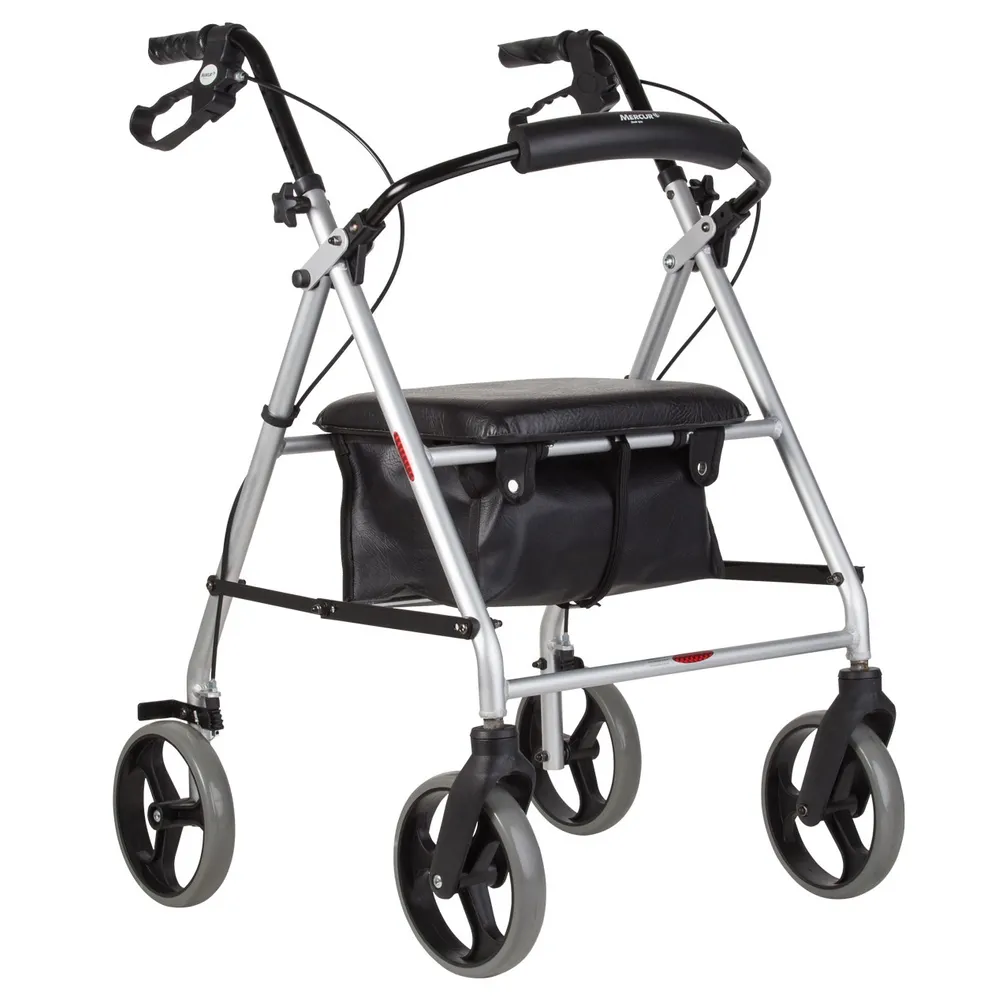 Andador Dobrável com Rodas, Assento e Cesta Mercur - Soft Care Produtos Médicos