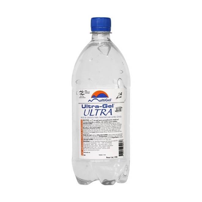 Gel Ultrasson Incolor 1KG Frasco Multigel - Soft Care Produtos Médicos