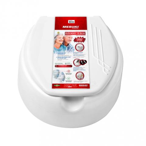 Assento elevado 13,5cm C/tampa - Soft Care Produtos Médicos
