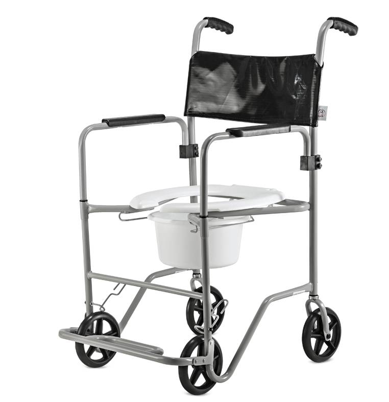 Cadeira de Banho em aço BR com Sanitário Jaguaribe - Soft Care Produtos Médicos
