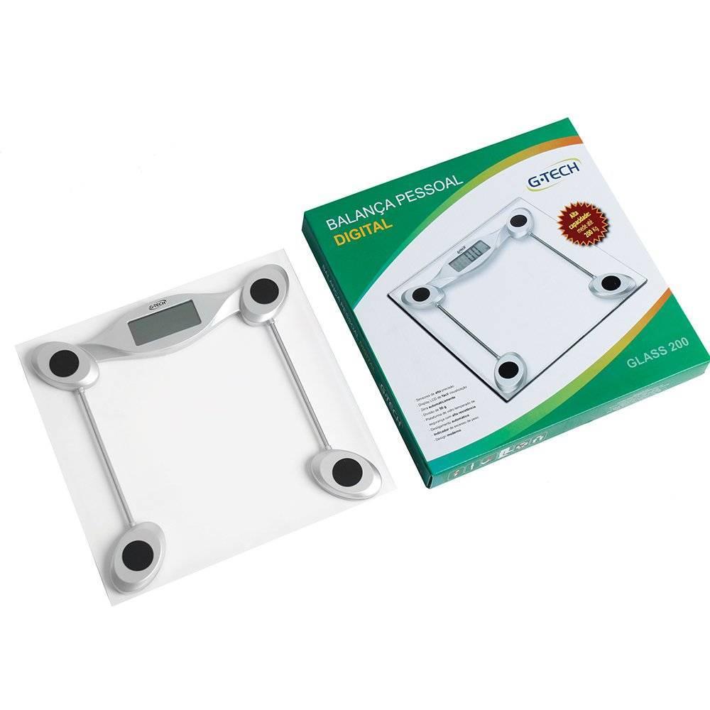 BALANCA PORTATIL DIG. CAP 200KG G-TECH GLASS 200 - Soft Care Produtos Médicos