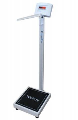 Balança Antropométrica Digital WELMY W300A LED - Soft Care Produtos Médicos