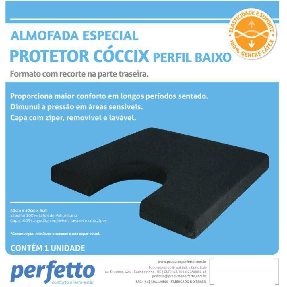 Almofada Protetor Cóccix Perfil Baixo - Soft Care Produtos Médicos