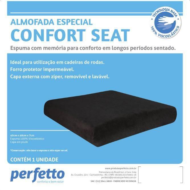 Almofada Confort Seat Perfetto - Soft Care Produtos Médicos