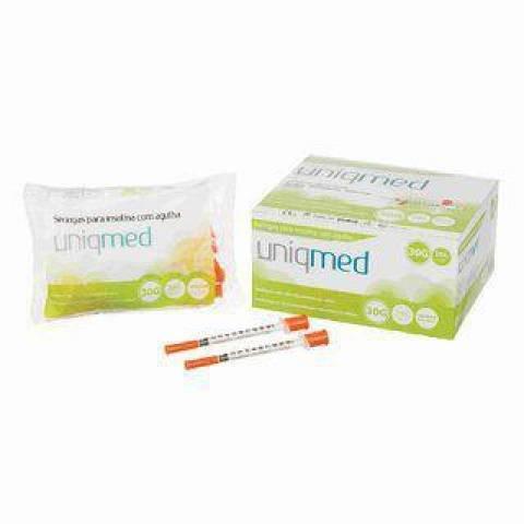 Seringa Descartável de Insulina com Agulha C/10UN UNIQMED - Soft Care Produtos Médicos