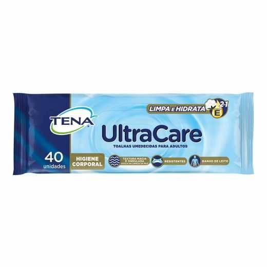 Toalha Umedecida TENA UltraCare c/40und - Soft Care Produtos Médicos