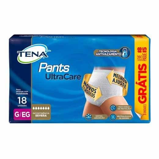 Roupa Intima Tena Pants UltraCare com 18un - Soft Care Produtos Médicos