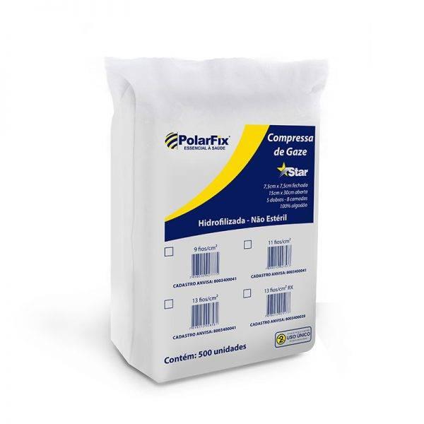 Compressa gaze c/ 500 un POLAR FIX - Soft Care Produtos Médicos