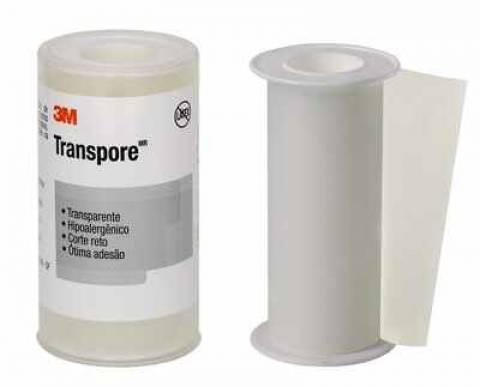 Fita Cirúrgica Transparente 10cm x 4,5m Transpore 3M - Soft Care Produtos Médicos