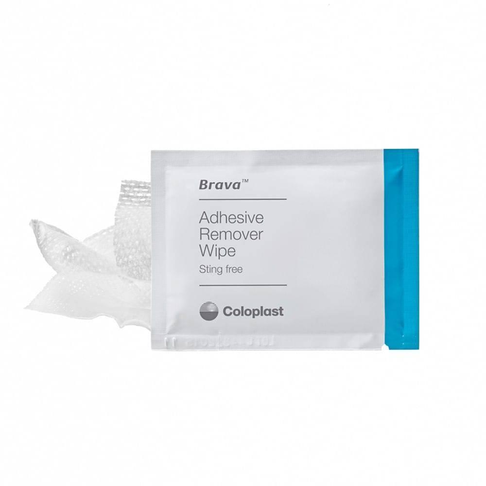 Lenço Removedor de Adesivo Brava Coloplast - 12011 - Soft Care Produtos Médicos