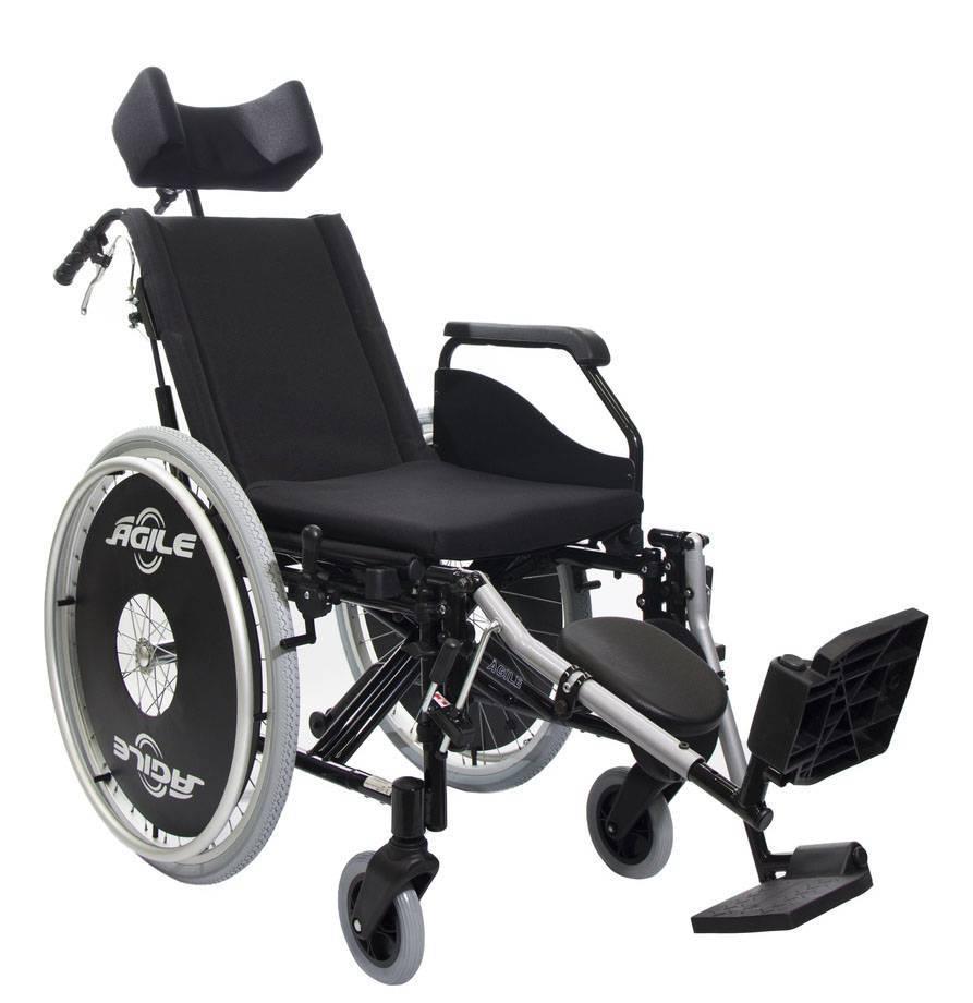 Cadeira de Rodas Alumínio Ágile Reclinável Jaguaribe  - Soft Care Produtos Médicos