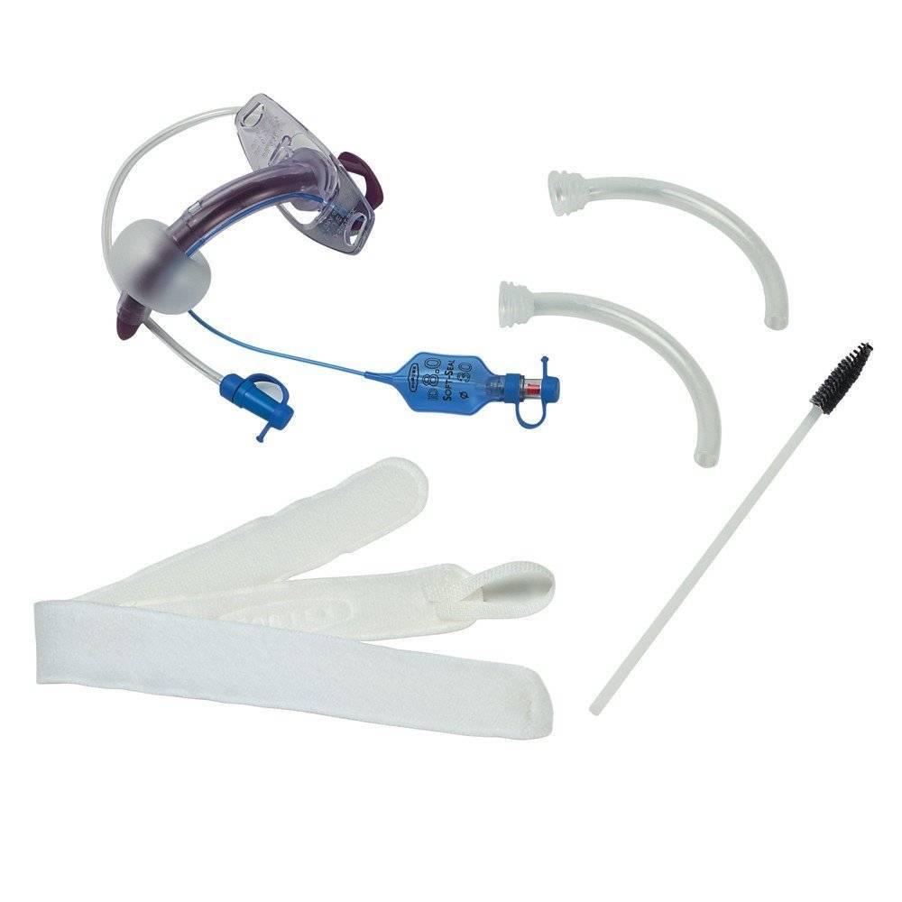 Cânula Traqueal Desc Blueline com Balão - Soft Care Produtos Médicos