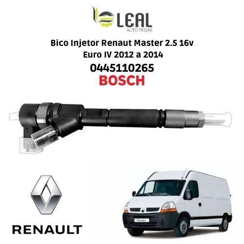 Injetor Master 2.5 16v Euro IV 2012 a 2014 0445110265 - Leal Auto Peças