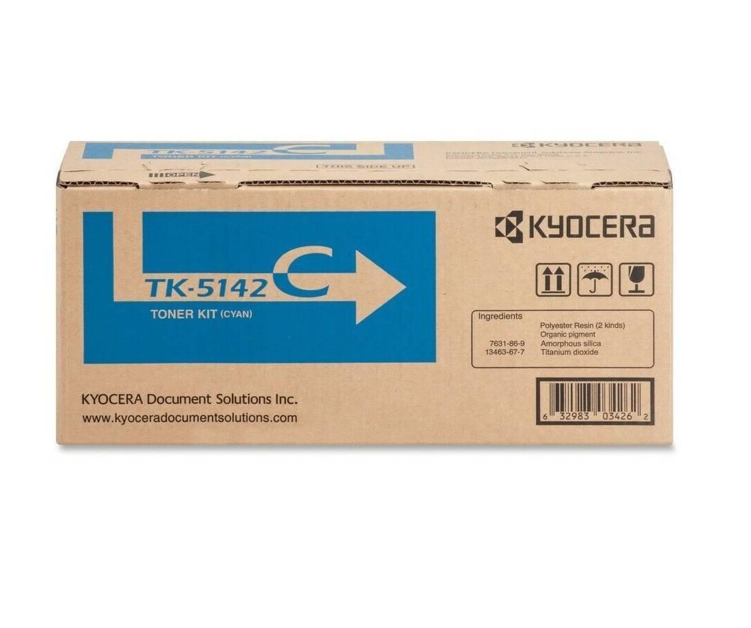 CARTUCHO DE TONER CIANO AZUL PARA IMPRESSORA KYOCERA ECOSYS P6130 / M6030 / M6530 - TK-5142C - PRINTER DO BRASIL