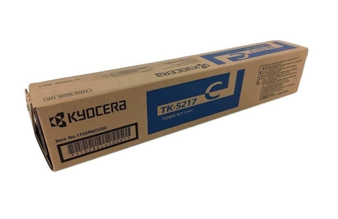 CARTUCHO DE TONER CIANO PARA IMPRESSORA KYOCERA TASKALFA 406ci - TK-5217C ORIGINAL - PRINTER DO BRASIL