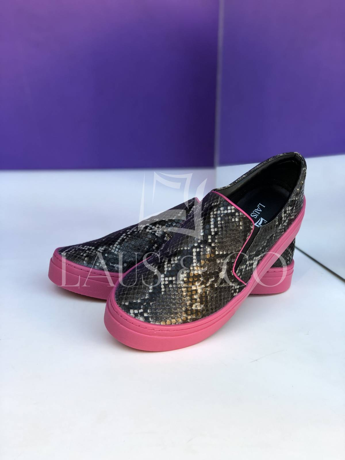 SlipOn Píton Solado Pink  - LAUS & CO