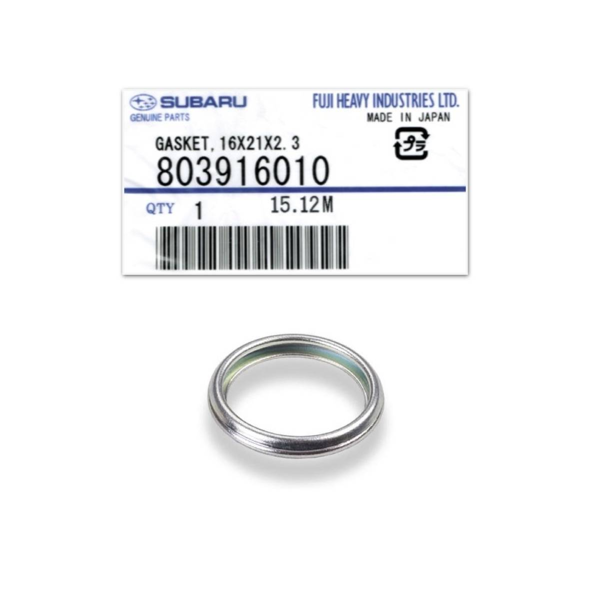 Anel de vedação do cárter - Subaru - 803916010 - PerformanceLUB Lubrificantes Premium