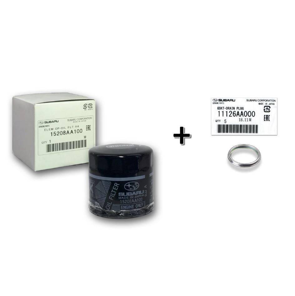 Kit filtro de óleo + anel - Subaru - 15208AA100 + 11126AA000 - PerformanceLUB Lubrificantes Premium