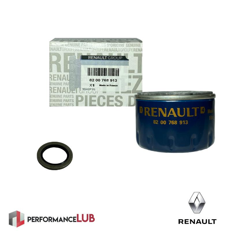 Kit filtro de óleo + anel - Renault F4R - 82 00 768 913 + 11 02 655 05R - PerformanceLUB Lubrificantes Premium