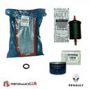 Kit filtros - Renault F4R - Filtros de óleo, ar, combustível + anel