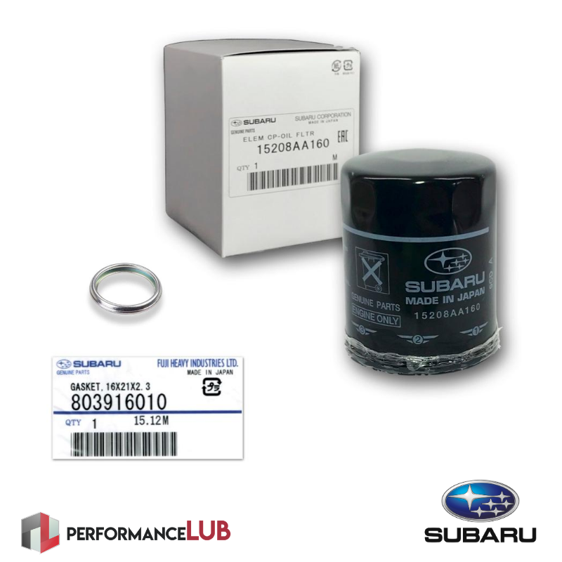 Kit filtro de óleo + anel - Subaru - 15208AA160 + 803916010 - PerformanceLUB Lubrificantes Premium