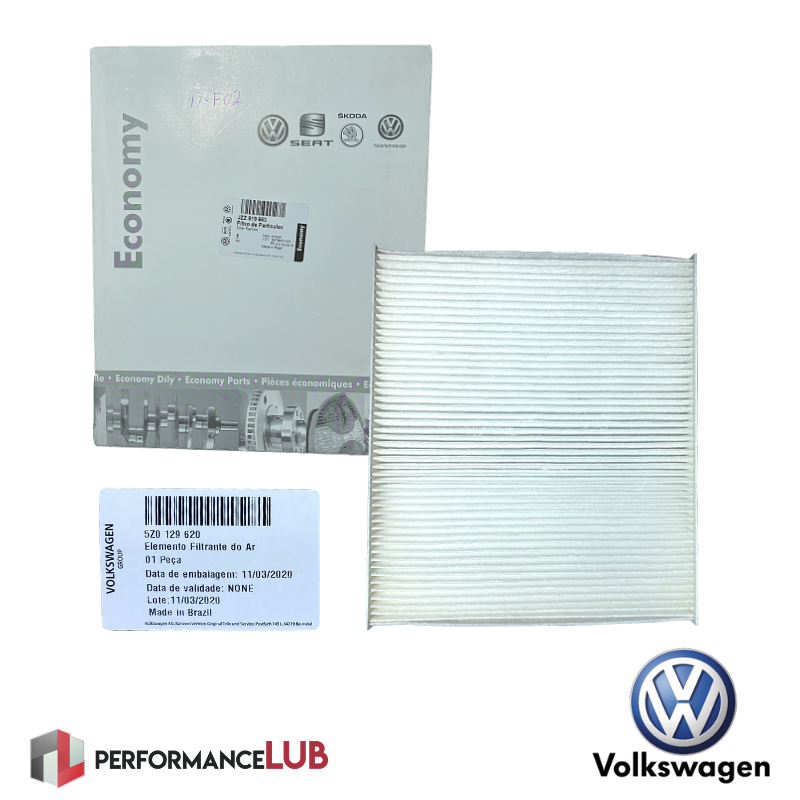 Filtro de ar da cabine - Volkswagen - JZZ.819.653 - PerformanceLUB Lubrificantes Premium