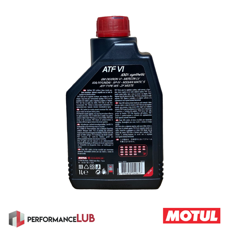 ATF VI - JASO 1A - 1 litro - PerformanceLUB Lubrificantes Premium