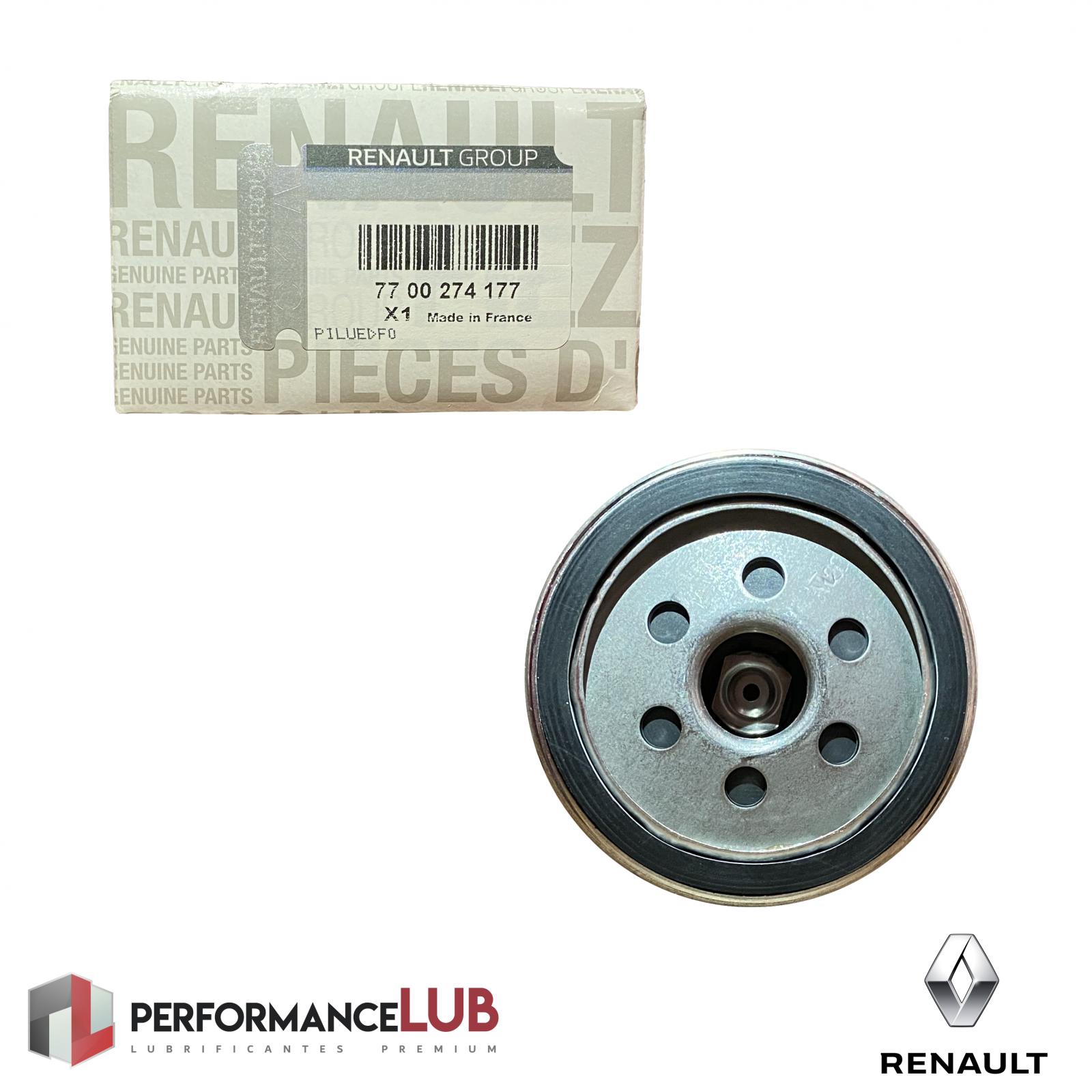 Filtro de óleo do motor - Renault - 77 00 274 177 - PerformanceLUB Lubrificantes Premium