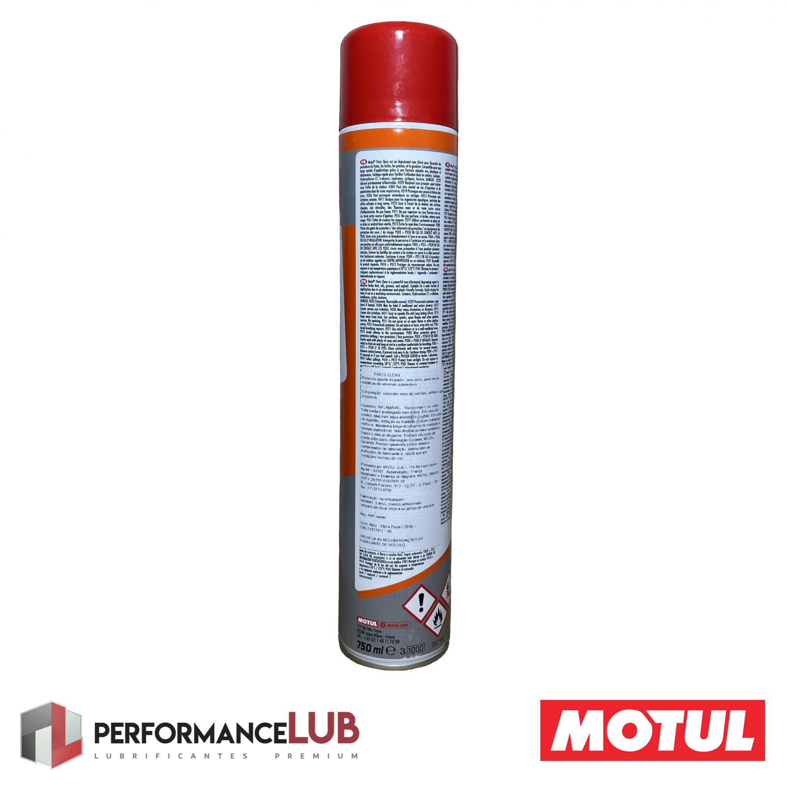 Parts Clean - 750 ml - PerformanceLUB Lubrificantes Premium