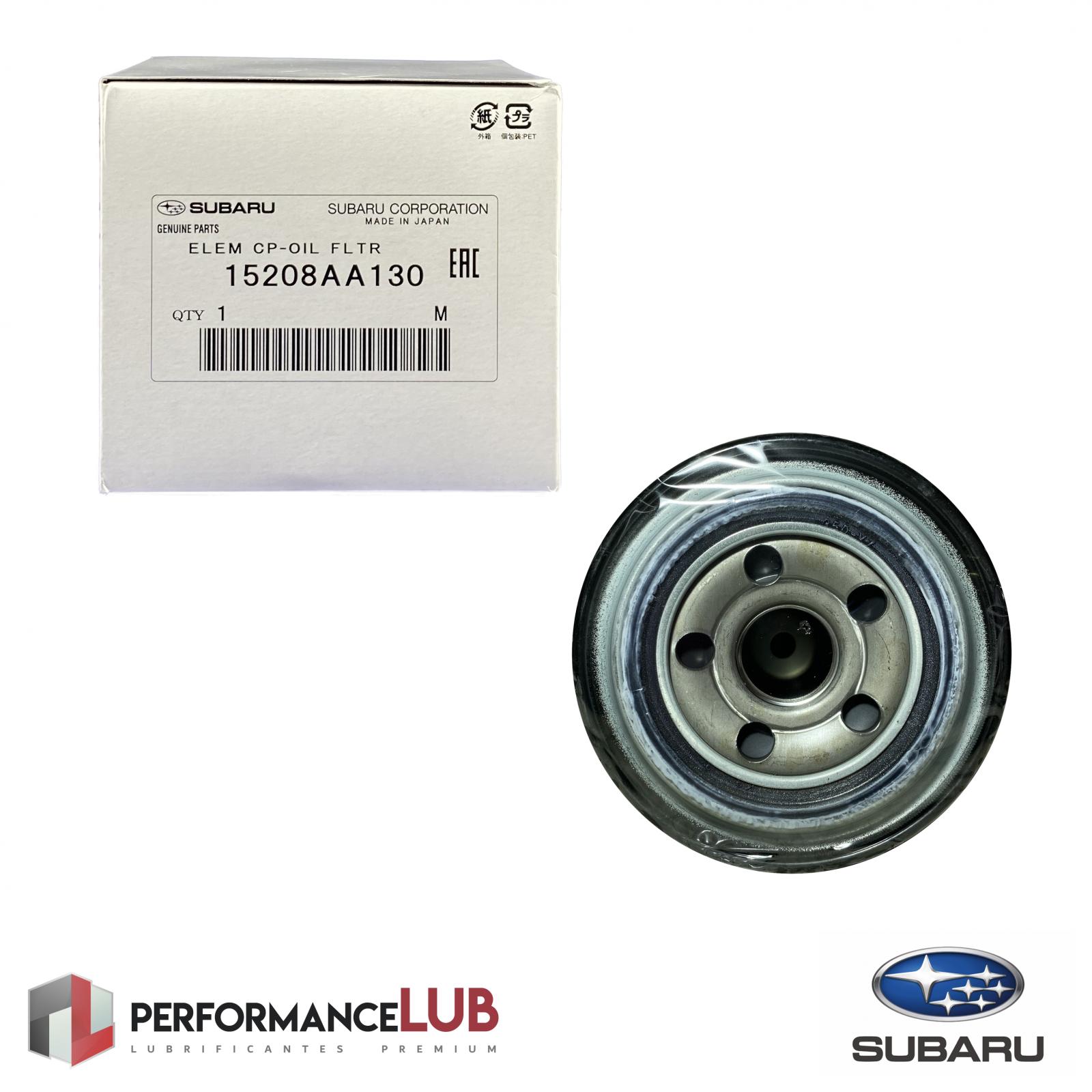 Filtro de óleo do motor - Subaru - 15208AA130 - PerformanceLUB Lubrificantes Premium