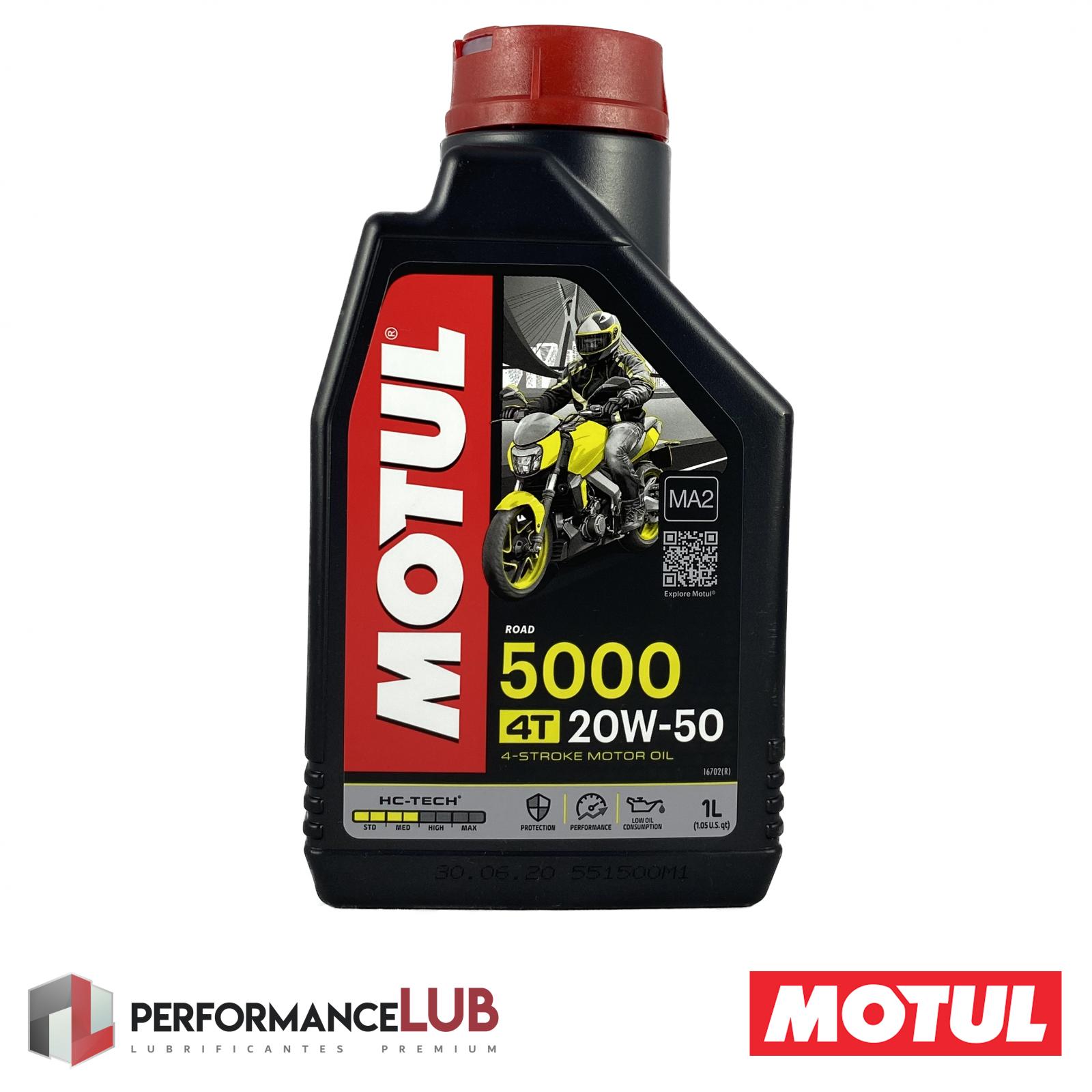 5000 4T 20W50 - JASO MA2 - 1 litro - PerformanceLUB Lubrificantes Premium