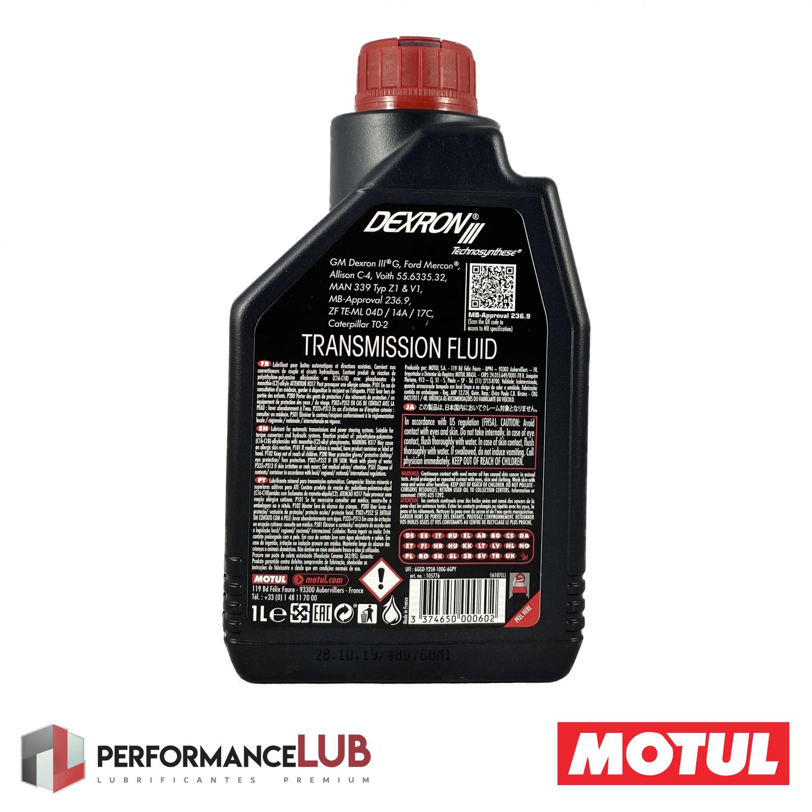 Dexron III - 1 litro - PerformanceLUB Lubrificantes Premium