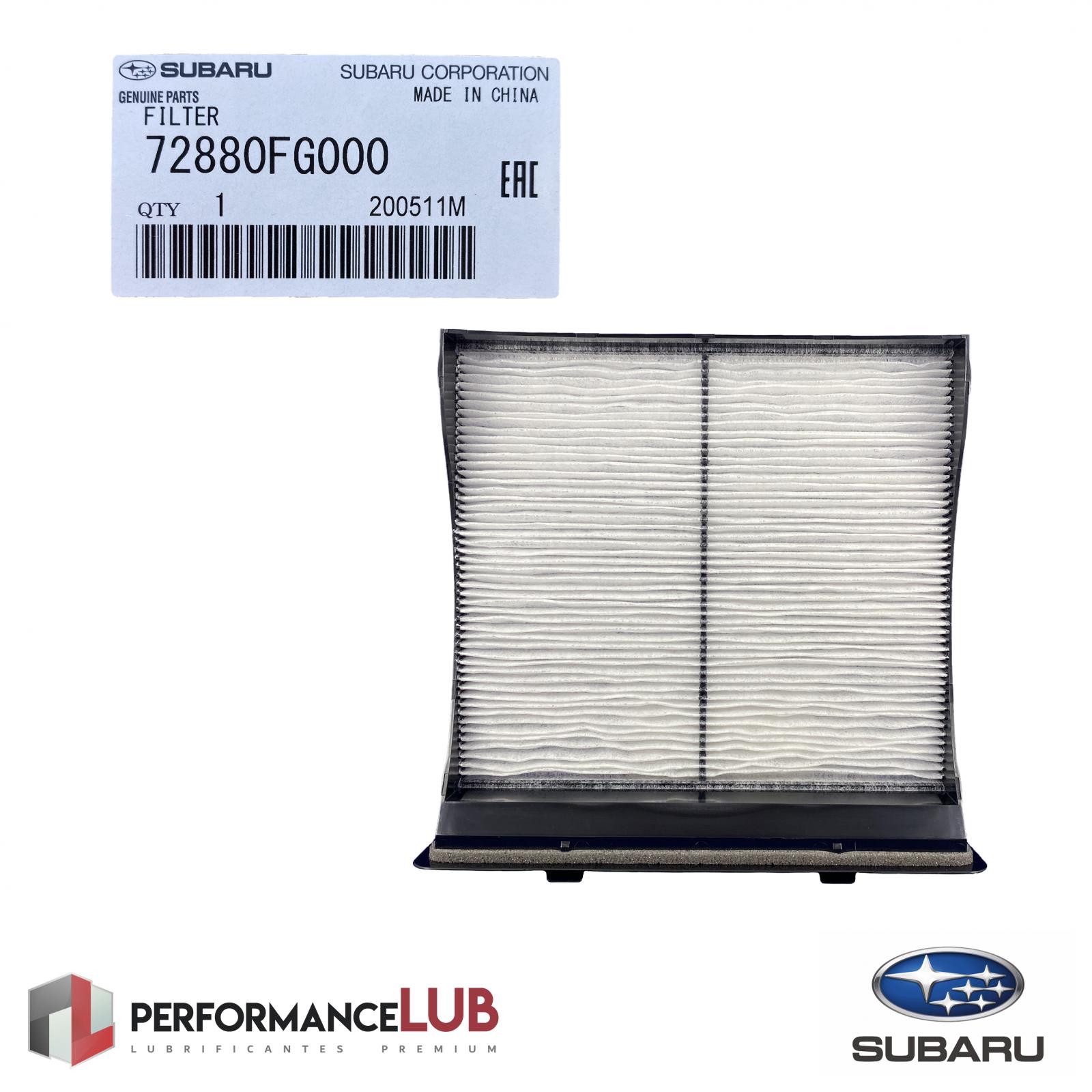 Filtro de ar da cabine - Subaru - 72880FG000 - PerformanceLUB Lubrificantes Premium
