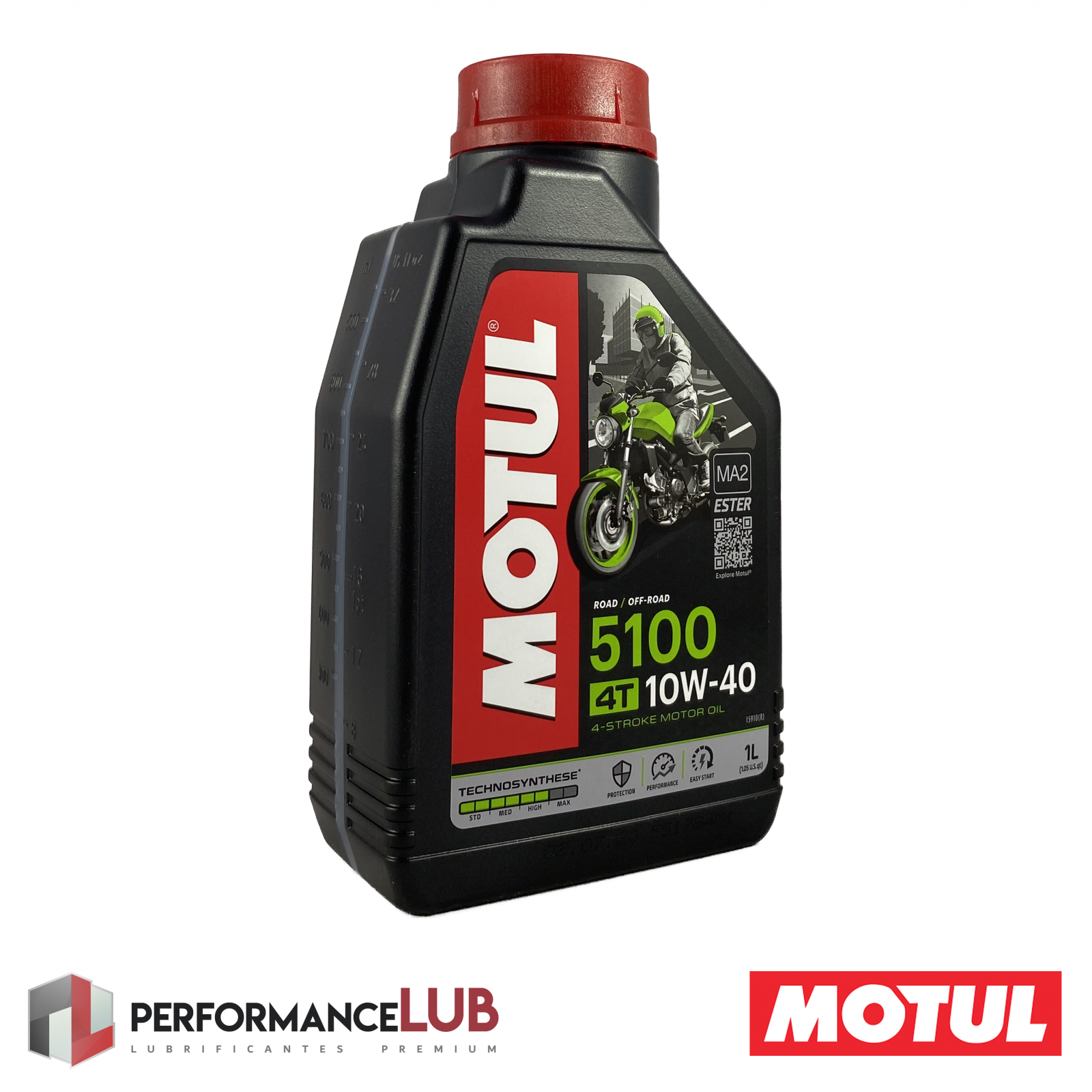 5100 4T 10W40 - JASO MA2 - 1 litro - PerformanceLUB Lubrificantes Premium