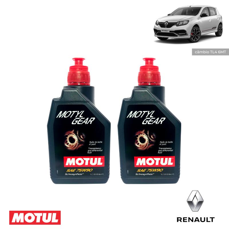 Kit revisão- Renault Sandero RS - Câmbio Motylgear 75W90 - PerformanceLUB Lubrificantes Premium
