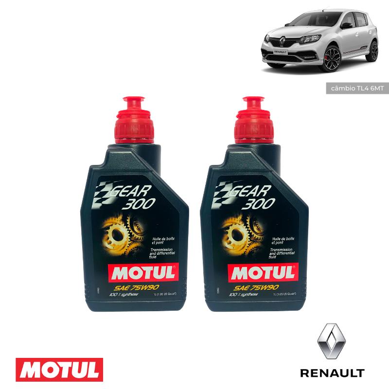 Kit revisão- Renault Sandero RS - Câmbio Gear 300 75W90 - PerformanceLUB Lubrificantes Premium