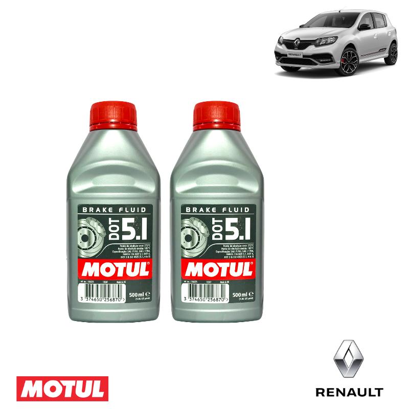 Kit revisão- Renault Sandero RS - Freio - DOT 5.1 - PerformanceLUB Lubrificantes Premium