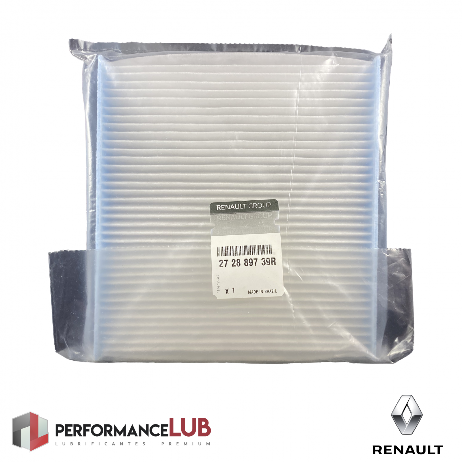 Filtro de ar da cabine - Renault Sandero/Logan (fase 2) - 27 28 897 39R - PerformanceLUB Lubrificantes Premium