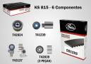 Kit de correia dentada e tensor - Gates - KS815