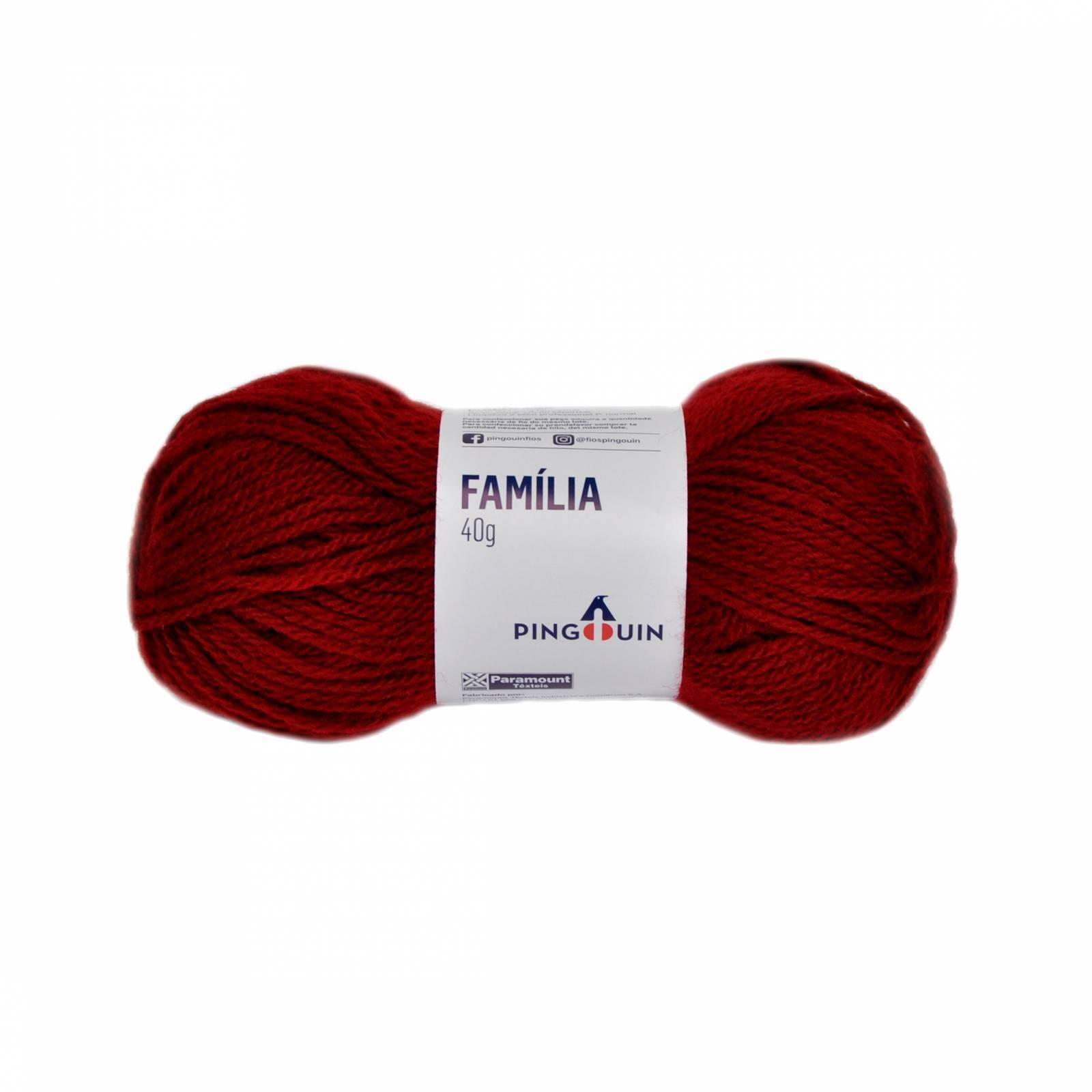 Lã família 315 vermelho - BAÚ DA VOVÓ