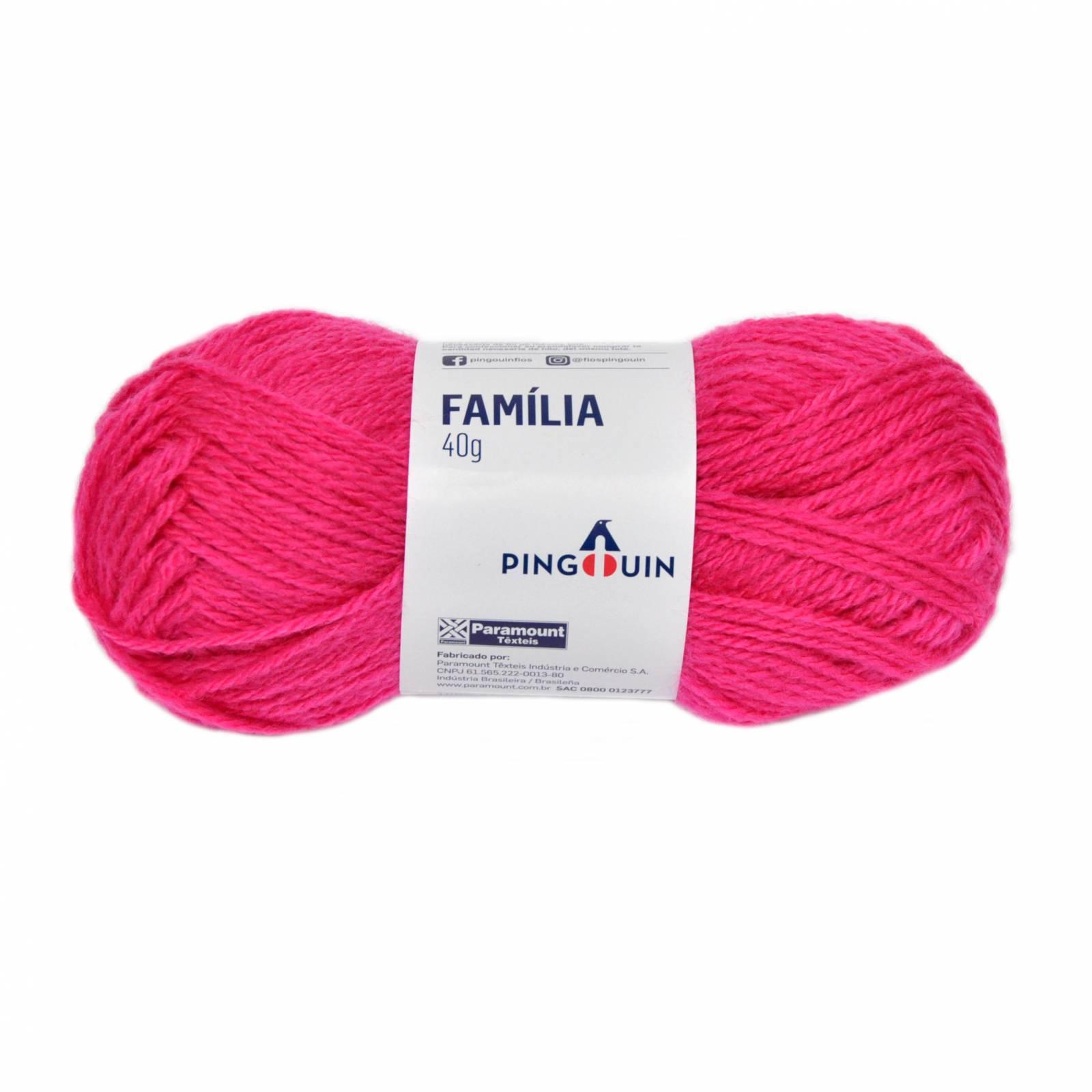 Lã família 2357 pink panther - BAÚ DA VOVÓ