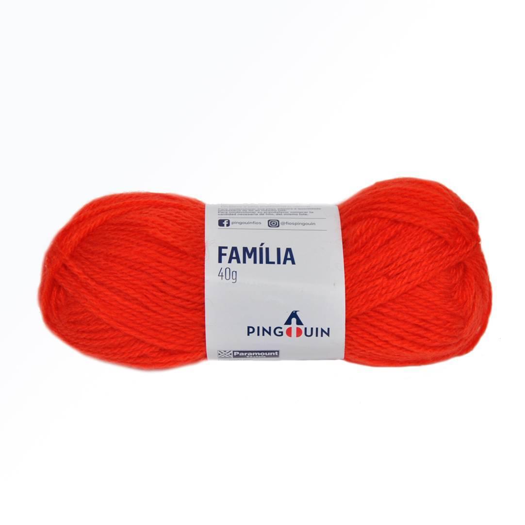 Lã família 5241 carmin - BAÚ DA VOVÓ