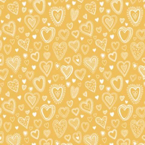 Multi corações amarelo - BAÚ DA VOVÓ