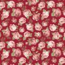Floral Viena mini fundo bordô