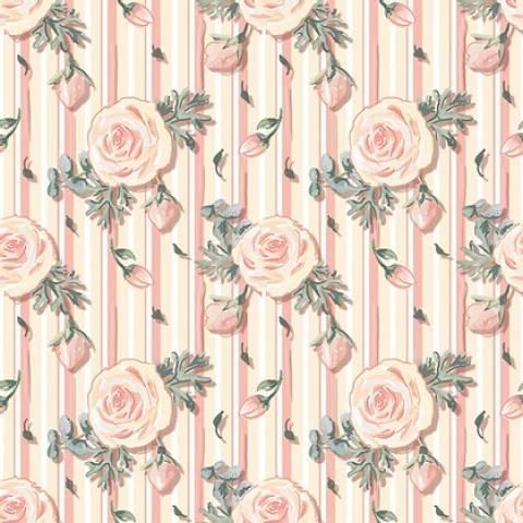 Mini floral Veneza rosê - BAÚ DA VOVÓ