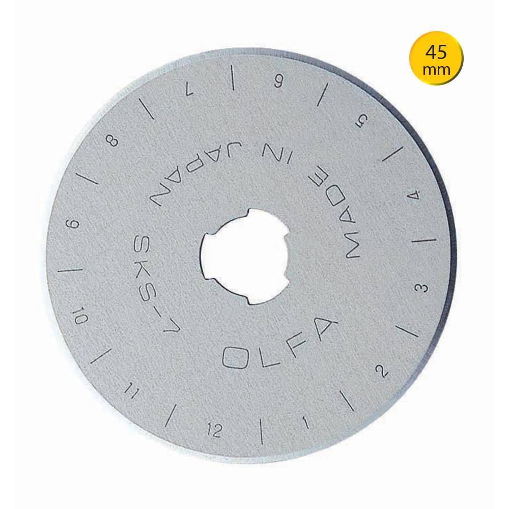 Lâmina 45mm para cortador circular Olfa - BAÚ DA VOVÓ