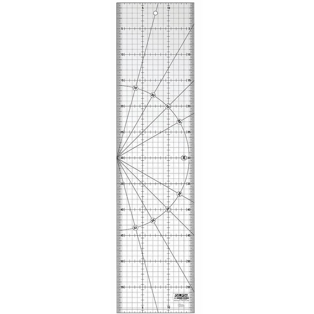 Régua para patchwork 15cmx60cm Olfa - BAÚ DA VOVÓ
