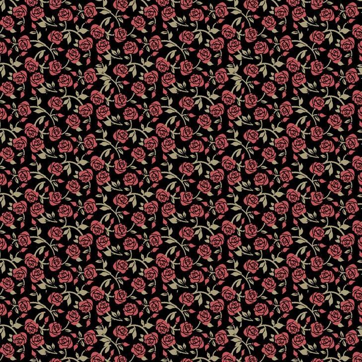 Rosas fundo preto - BAÚ DA VOVÓ