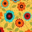 Floral fundo amarelo