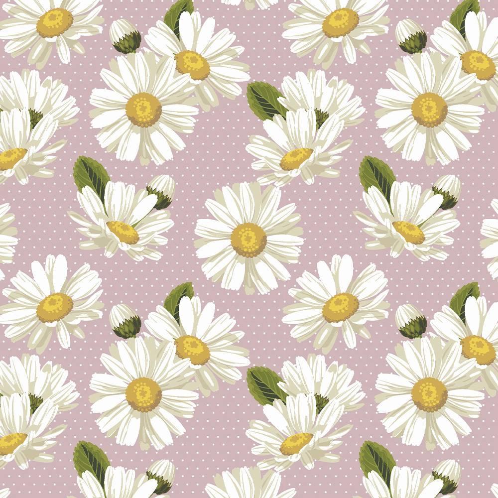 Daisy com poá rosê - BAÚ DA VOVÓ